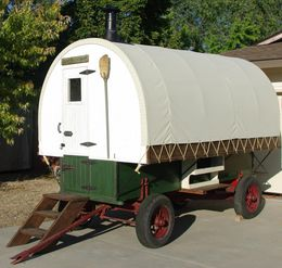 Sample sheep wagon built by owner